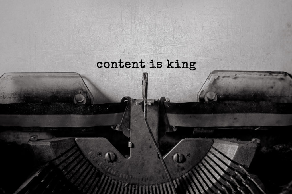 content is king medium