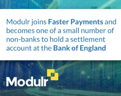 Modulr joins Faster Payments and announces £20m investment in Scottish fintech industry