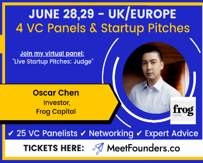 Frog's Oscar Chen to speak at next Meet Founders VC Conference