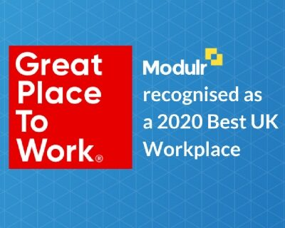 Modulr is recognised as one of the 2020 UK's Best Workplaces™