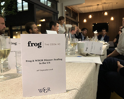 Expanding and Scaling in the US: Frog's CEO Dinner with WSGR