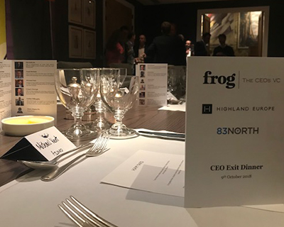 Three Routes to a Successful Exit – Frog's CEO Dinner with Just Eat, Arieso and PhotoBox former CEOs